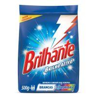 Detergente em Pó Brilhante Brilho Ativo Roupas Brancas e Coloridas 500g - Cod. 7891150016736