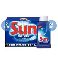 Combo COMPRE 24 Secador e Abrilhantador Líquido Sun 100ml GANHE 2 Detergente SUN Tablete Lava Louças Concentrado 143g - Cod. C12376