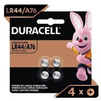 Pilha Moeda LR44 / A76 Alcalina DURACELL com 4 unidades - Cod. 41333034294