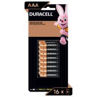 Pilha Alcalina Palito AAA DURACELL com 16 unidades - Cod. 41333666952