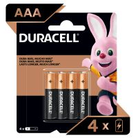 Pilha Alcalina Palito AAA DURACELL com 4 unidades - Cod. 41333001098