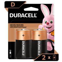 Pilha Alcalina D DURACELL com 2 unidades - Cod. 41333000985