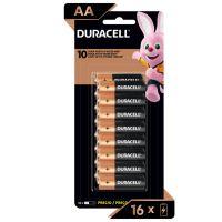 Pilha Alcalina AA Pequena DURACELL com 16 unidades | Caixa com 1 - Cod. 41333666815