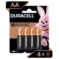 Pilha Alcalina AA Pequena DURACELL com 4 unidades | Caixa com 1 - Cod. 41333001029