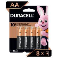 Pilha Alcalina AA Pequena DURACELL com 8 unidades - Cod. 41333001036