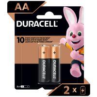Pilha Alcalina AA Pequena DURACELL com 2 unidades | Caixa com 1 - Cod. 41333001005