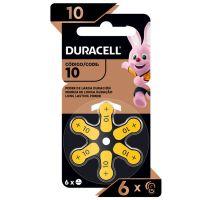 Pilha Auditiva nº 10 DURACELL com 6 unidades | Caixa com 1 - Cod. 41333030180