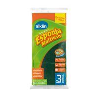 Esponja Abrasiva Dupla face Alklin 3 unidades - Cod. 7897750771761