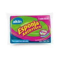 Esponja Dupla face Antirrisco Tradicional Alklin - Cod. 7897750778951
