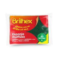 Esponja Abrasiva Dupla Face - 99X71X20mm Brilhex 1 un. - Cod. 7897750778692C60
