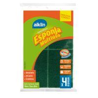 Esponja Abrasiva Dupla face Alklin 4 unidades - Cod. 7897750782576C140