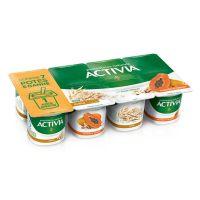Leite Fermentado Activia Pack Mamão, Cereais e Aveia 800G - Cod. 7891025700258