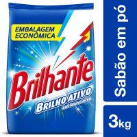 Sabão em Pó Brilhante Brilho Ativo 3kg | 6 unidades - Cod. C15255