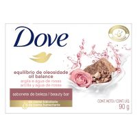 Sabonete em Barra Dove Equilíbrio de Oleosidade Argila e Água de Rosas 90g | 6 unidades - Cod. C15364
