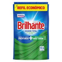 Refil Lava Roupas Líquido Brilhante Higiene Total 900mL | 4 unidades - Cod. C15387