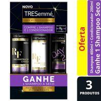 Oferta Tresemmé Reconstrução e Força Shampoo 400ml + Condicionador 200ml + Shampoo a Seco - Cod. C15415