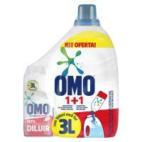 Oferta Omo Sabão Líquido Concentrado Lavagem Perfeita 500ml + Garrafa 3L - Cod. C15443