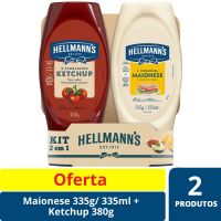 Oferta Maionese Hellmann's Squeeze 335g + Ketchup Hellmann's Squeeze 380g | Caixa com 14 - Cod. C15448