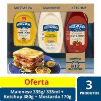 Oferta Maionese 335g + Ketchup 380g + Mostarda 170g Hellmann's   335g - Cod. C15453