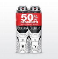 Oferta Desodorante Aerosol Rexona Masculino Invisible 2 x 150ml | 6 unidades - Cod. C15476