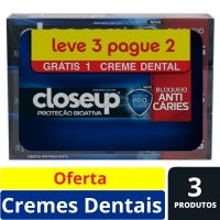 Oferta Creme Dental Close Up Proteção Bioativa Bloqueio Anticáries 70g | 24 Unidades - Cod. C15494