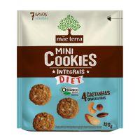 Mini Cookie Integral Orgânico Mãe Terra Diet 4 Castanhas Brasileiras 120g | 6 unidades - Cod. C15574