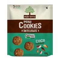 Mini Cookie Integral Orgânico Mãe Terra Coco 120g | 6 unidades - Cod. C15575