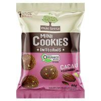 Mini Cookie Integral Orgânico Mãe Terra Cacau e Castanhas 25g |7 unidades - Cod. C15576