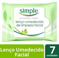 Lenço de Limpeza Facial Simple Cleansing 7 folhas | 3 Unidades - Cod. C15739