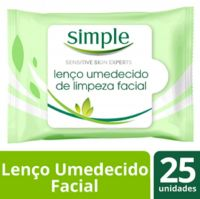 Lenço de Limpeza Facial Simple Cleansing 25 folhas | 3 Unidades - Cod. C15740