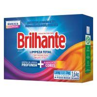 Lava Roupas Sanitizante em Pó Brilhante Limpeza Total 1,6Kg | 9 unidades - Cod. C15761