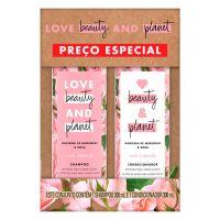 Kit Love Beauty and Planet Shampoo 300ml + Condicionador 300ml Manteiga de Murumuru & Rosa Curls Intensify |8 unidades - Cod. C15791