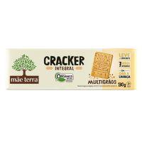 Biscoito Orgânico Mãe Terra Tribos Cracker Original 130g | 6 unidades - Cod. C16251