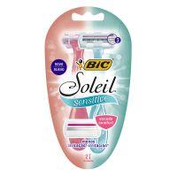 Aparelho de Depilar BIC Soleil Sensitive com 2 unidades - Cod. 70330736702