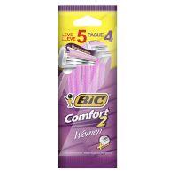 Aparelho de Depilar BIC Comfort 2 Women com 2 unidades Leve 5 Pague 4 - Cod. 70330728547