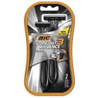Barbeador BIC Comfort 3 Advance Black c/ 2 unidades - Cod. 70330724815