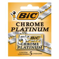 Lâmina Duplo Fio BIC Chrome Platinum c/ 5 unidades - Cod. 70330709003