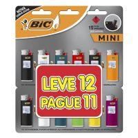 Isqueiro BIC Mini Leve 12 Pague 11 - Cod. 70330659056