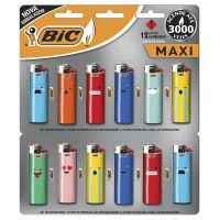 Isqueiro BIC Maxi DECOR estampa MOOD c/ 12 unidades - Cod. 70330659032