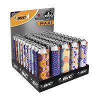 Isqueiro BIC Maxi DECOR estampa Hexagonal c/ 50 unidades - Cod. 70330658981