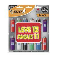 Isqueiro BIC Maxi Leve 12 Pague 11 - Cod. 70330656277