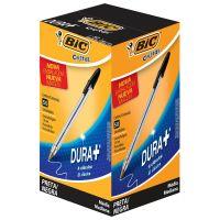 Caneta Esferográfica BIC Cristal Dura+ preta com 50 un. - Cod. 70330129665