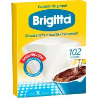 Filtro De Café Papel Brigitta 102 | Caixa com 30 unidades - Cod. 7891021002110C6