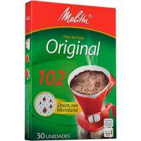 Fitro De Café Papel Melitta 102  | Caixa com 30 unidades - Cod. 7891021001908C6