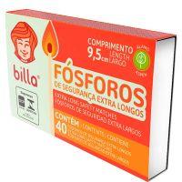Fósforo Billa Extra Longo   Caixa com 10 unidades - Cod. 17898643020024C10