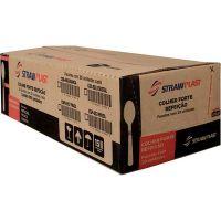 Colher Descartável Strawplast Forte Cristal - Csc-640 | Caixa com 500 unidades - Cod. 17898202616408C500