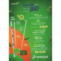 Canudo Biodegradável Strawplast para Lata 19,5cmX5mm |Com 500 Unidades - Cod. 7898202614209C500