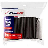 Canudo Strawplast Preto - Cs-220   Caixa com 500 unidades - Cod. 7898202612205C500