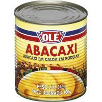 Abacaxi em Calda Rodelas Olé 400g | Caixa com 12un - Cod. 7891032016601C12