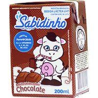 Achocolatado Líquido Sabidinho 200ml | Caixa com 27 Unidades - Cod. 7898944992115C27